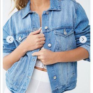 Large Forever 21 Faded wash denim jacket